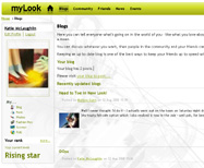 screengrab of the mylook website