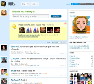 screengrab of my blip profile