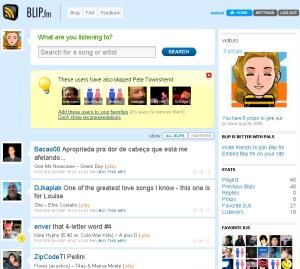 screengrab of my blip profile